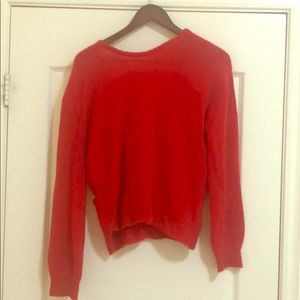 Sweaters - Red Sexy Sweater - Amazing Open Back!! Look at Pic